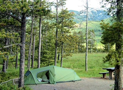 Tenting in Waterton Lakes National Park